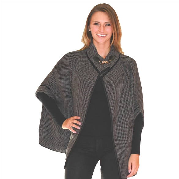 6 Pack Refined Cape with Hardware Closure - Charcoal