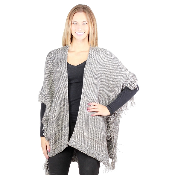 6 Pack Short Knit Cardigan - Charcoal