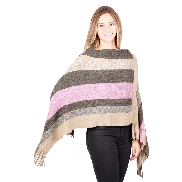 6 Pack V-Neck Ponchos - Multi