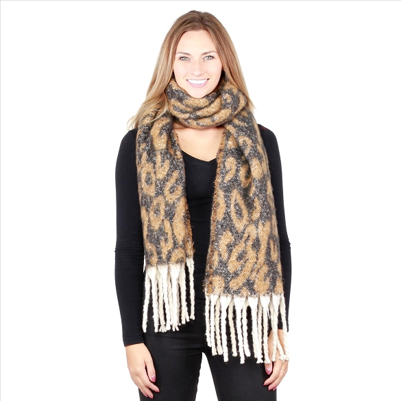 6 Pack Cheetah Print Scarves