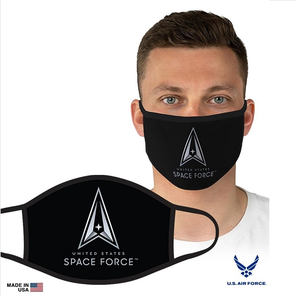 US Military Officially Licensed Space Force Face Masks - Black