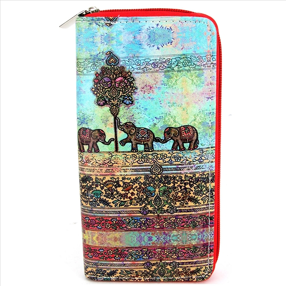 Tapestry Elephants Wallet
