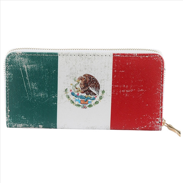 Mexican Flag Wallet