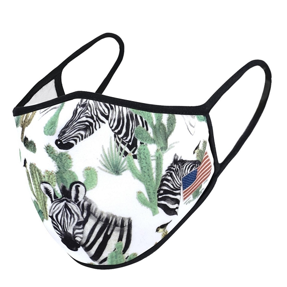 Zebra Print Face Mask - 6 Pack