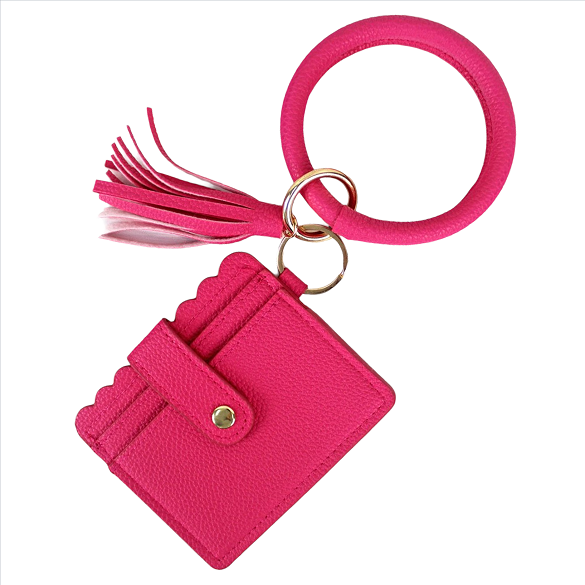 Wristlet ID Card Holder - Hot Pink
