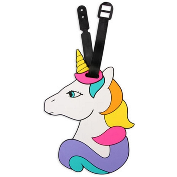 Colorful Unicorn Luggage Tag