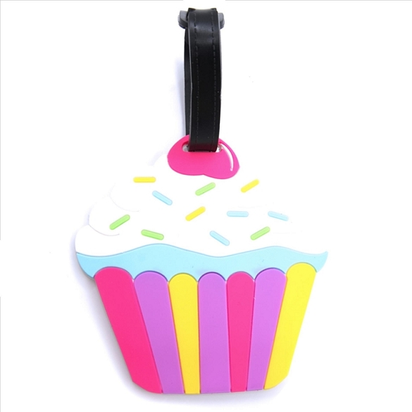 White Cupcake Luggage Tag
