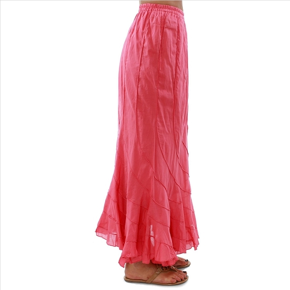 Chic Flowing Skirt - Coral