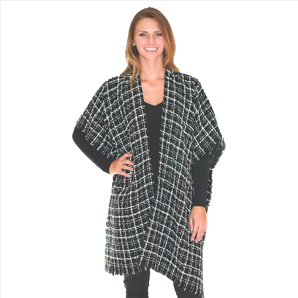 6 Pack Textured Cape with Silver Accents - Black