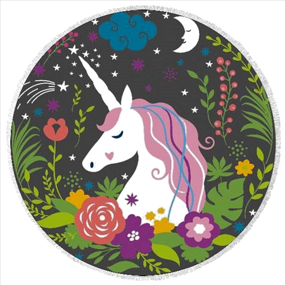 Roundie - Colorful Unicorn