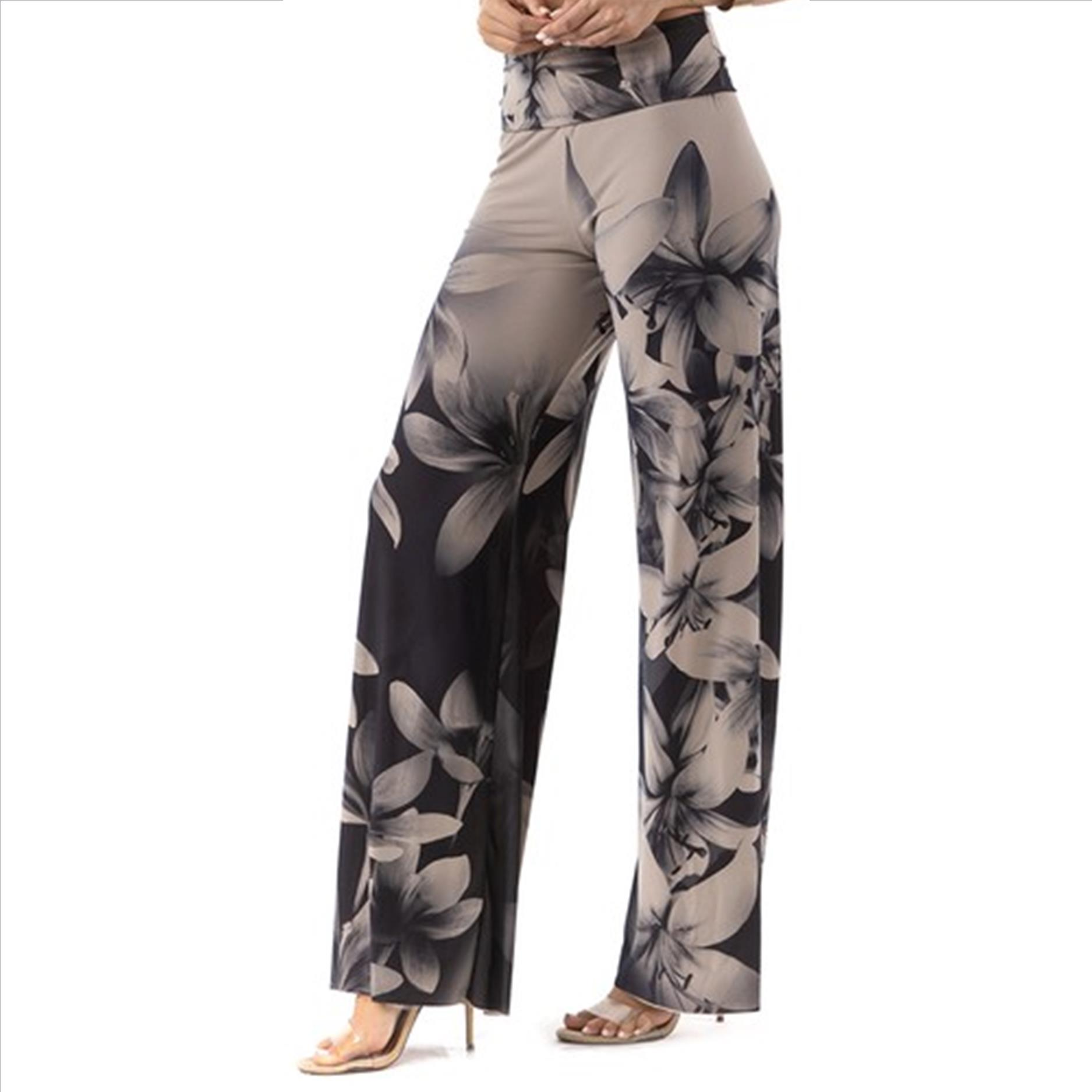 Plus Size Palazzo Pants with Pockets - Dark Lily