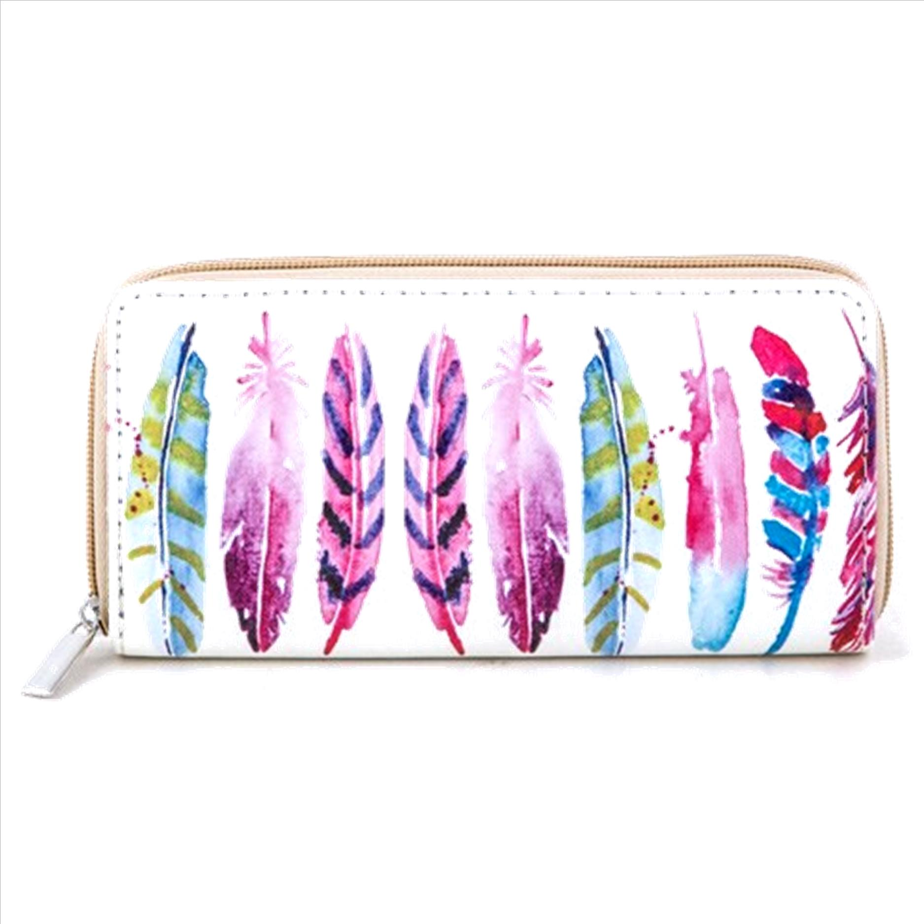 Boho Feathers Wallet