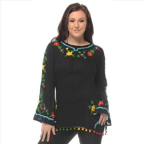 Brightly Embroidered Tunic - SAMPLE