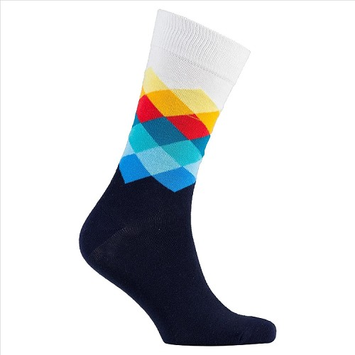 Men's Diamond Crew Socks #1045