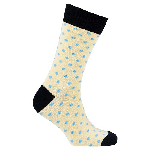 Men's Polka Dot Crew Socks #1081