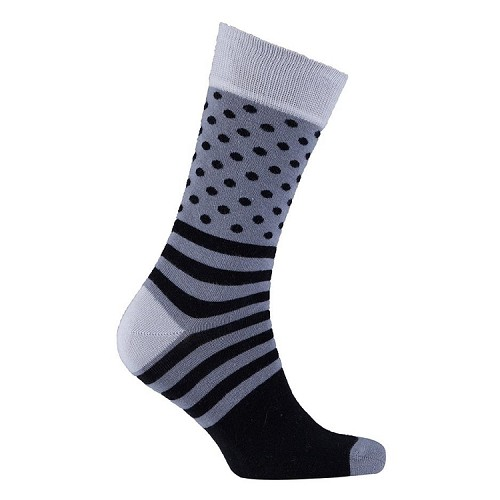 Men's Dot Stripe Crew Socks #1088