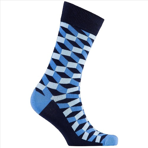 Men's Patterned Crew Socks #1154