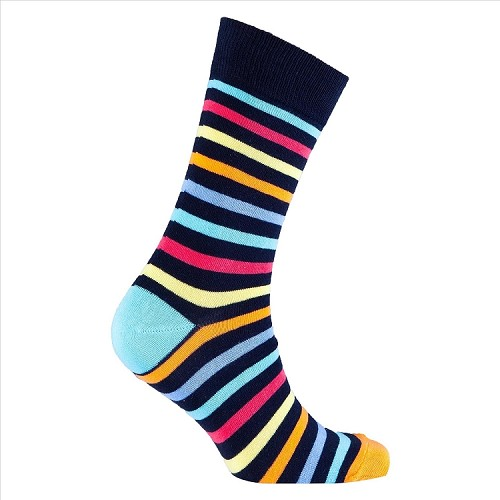 Men's Striped Crew Socks #1219