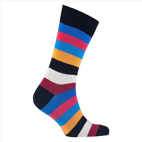 Men's Striped Crew Socks #1221