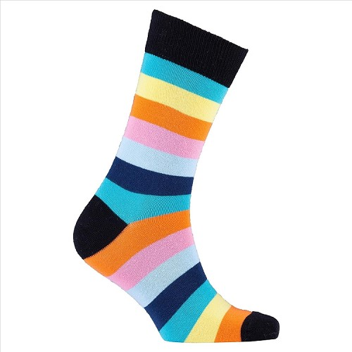 Men's Striped Crew Socks #1223