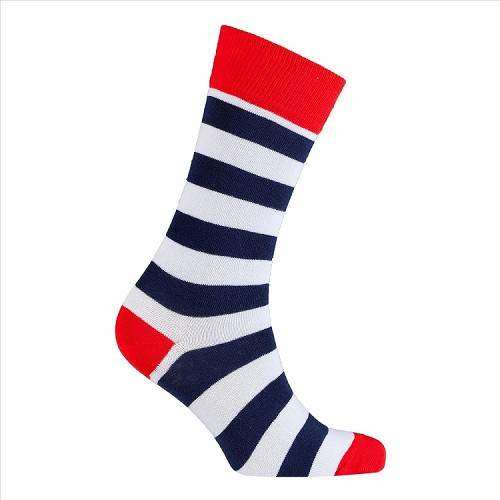 Men's Striped Crew Socks #1232