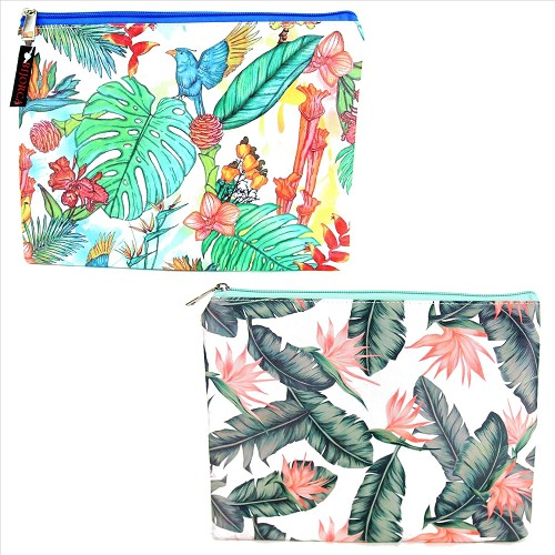 4 Pack Tropical Cosmetic Bags