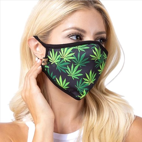 Green Weed Face Mask