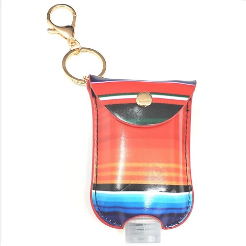 Mini Sanitizer Holder and Key Chain - Serape Print - 6 Pack