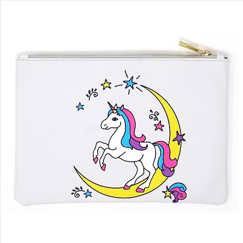 Colorful Unicorn Cosmetic Bag
