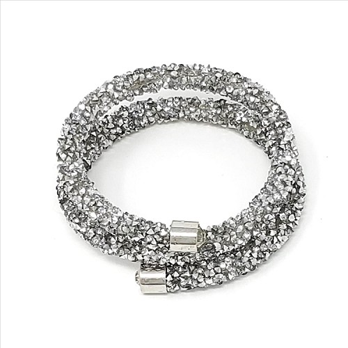 Crystal Dust Bangle - Silver