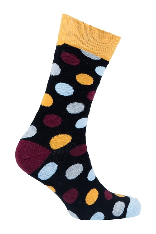 Men's Polka Dot Crew Socks #1050