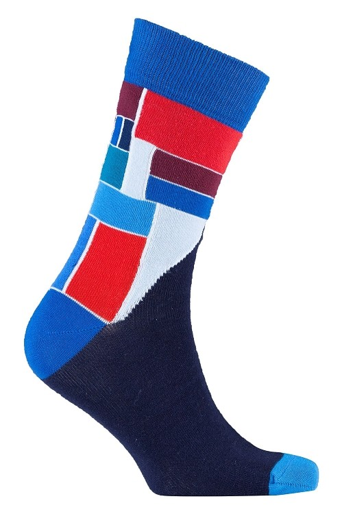 Men's Patterned Crew Socks #1161