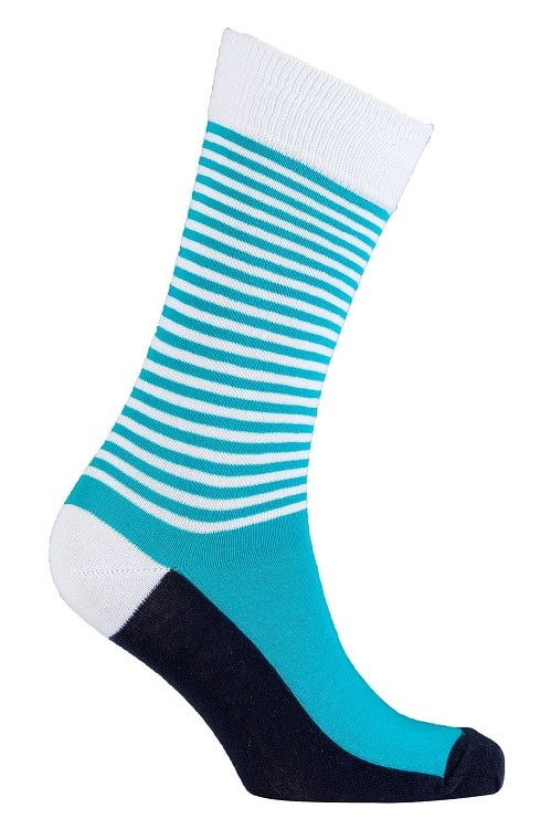 Men's Solid Stripes Crew Socks #1182