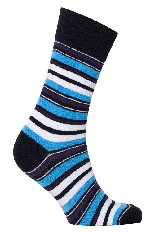 Men's Striped Crew Socks #1187