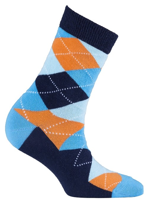 Women's Argyle Crew Socks #4002