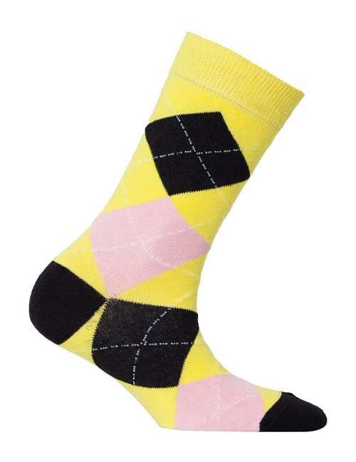 Women's Argyle Crew Socks #4012