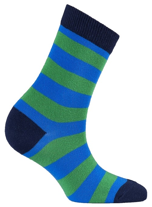 Women's Stripe Crew Socks #4082