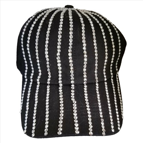 Rays of Rivets Hat - Black