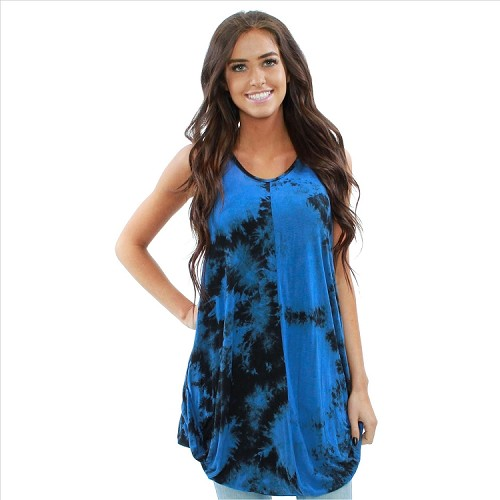 Trendy Flowing Tank - Blue