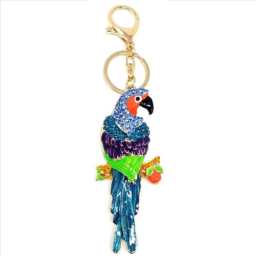Crystal Parrot Key Chain / Purse Charm