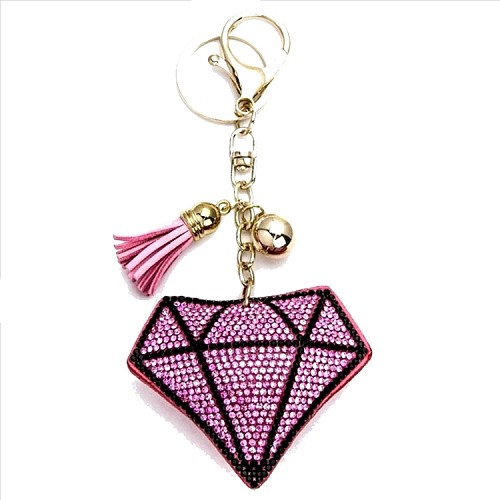 Diamond Puffy Tassel Key Chain