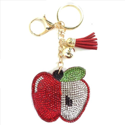 Apple Puffy Tassel Key Chain
