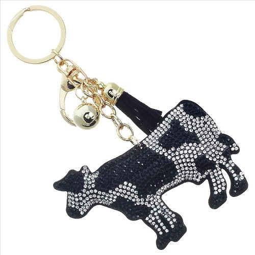Cow Puffy Tassel Key Chain
