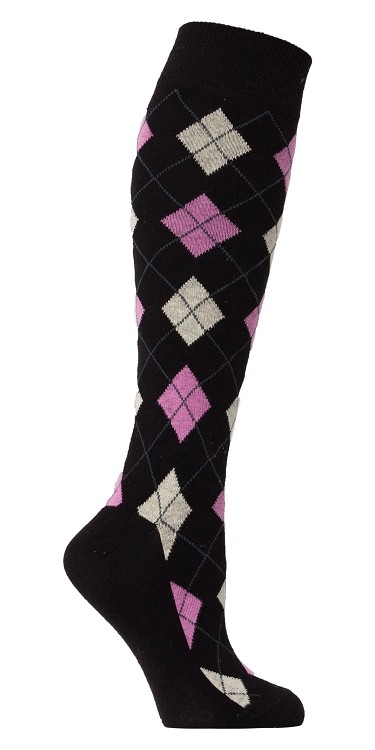 Women's Argyle Knee Highs #4147