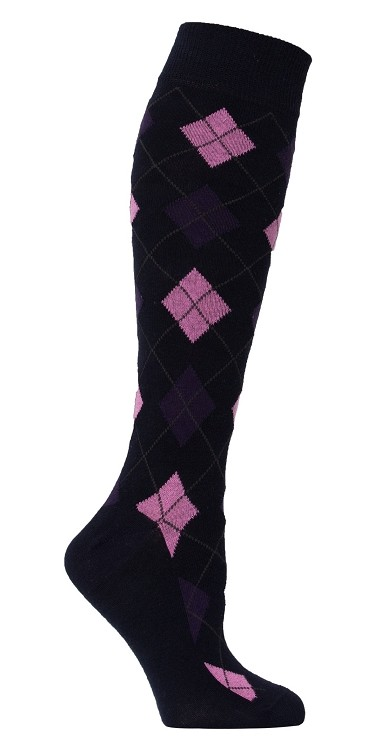 Women's Argyle Knee Highs #4150