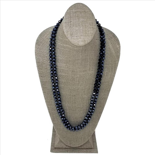 Faceted Necklace - Black
