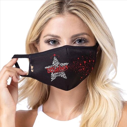 Wishes - Stars Print Christmas Face Masks - IN STOCK