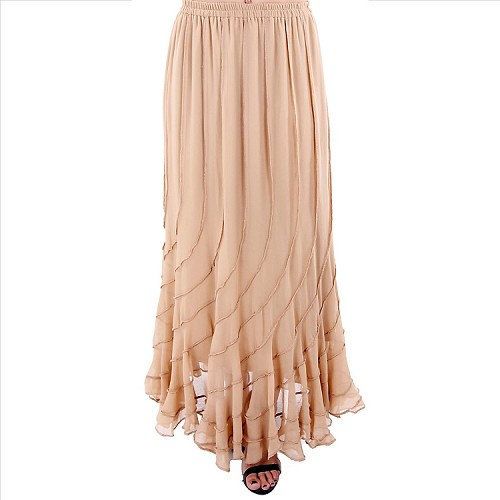 Elegant Flowing Skirt - Beige